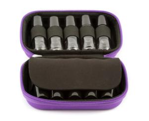 Hardcover Roller Bottle Case - Purple