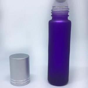 10ml Purple Frosted Glass Roller Bottle