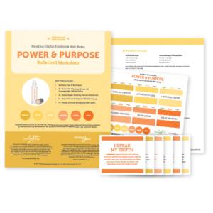 Power & Purpose: Blending Oils for Emotional Well-Being, Rollerball Workshop Kit